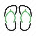 beach, feet, footwear, sandals, shoes icon