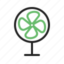air, electric, equipment, fan, wind icon
