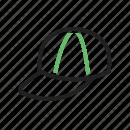 cap, children's cap, hat, head cover, head gear, p cap icon