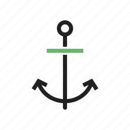 anchor, boating, hold, ocean, ship, steady icon