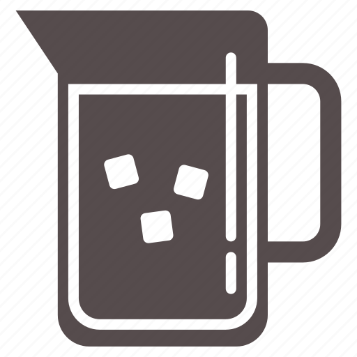 cool, cube, drink, ice, juice, pitcher, summer icon