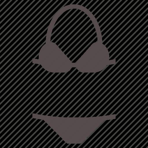 bikini, piece, summer, swim, swimsuit, swimwear, two icon