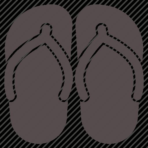 beach, flipflops, footwear, slippers, summer, vacation, wear icon