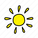beach, happy, holiday, summer, sun icon
