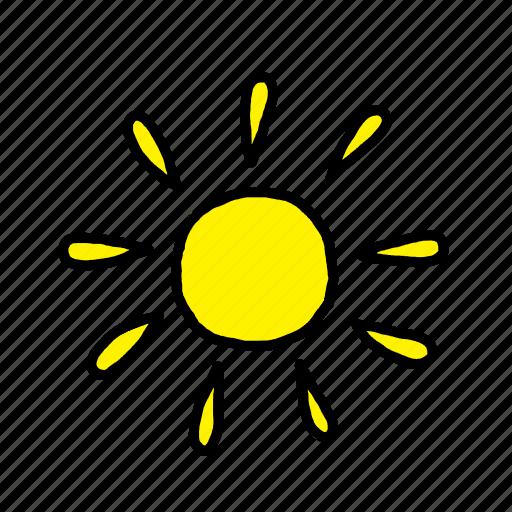 beach, happy, holiday, summer, sun icon
