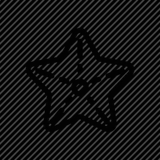 animal, sea star, star icon