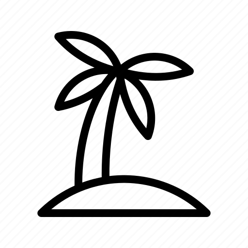 coconut tree, destination, holiday, island icon
