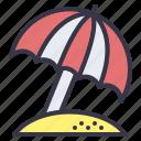 summer, requisite, necessity, beach, parasol, umbrella