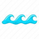 sea, summer, water, wave icon