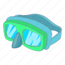 diving, goggles, ocean, sea