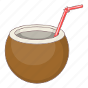 alcohol, cocktail, coconut, drink icon