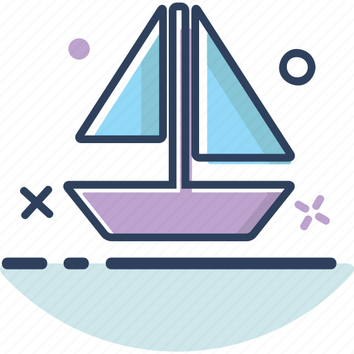 ship, summer icon