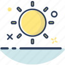 beach, holiday, line filled, summer, sun, sun icon, weather icon