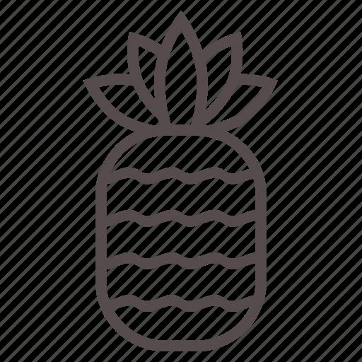 food, fruit, juice, pine, pineapple, summer, tropical icon