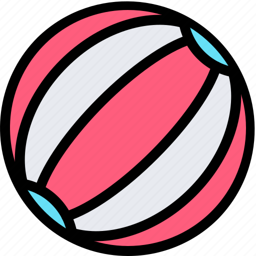 ball, beach, fun, party, summer icon