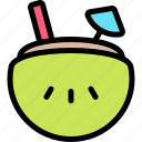 coconut, fun, party, summer icon