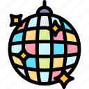 ball, disco, fun, party, summer icon