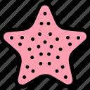 fun, party, sea, star, summer icon
