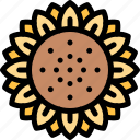 fun, party, summer, sunflower icon