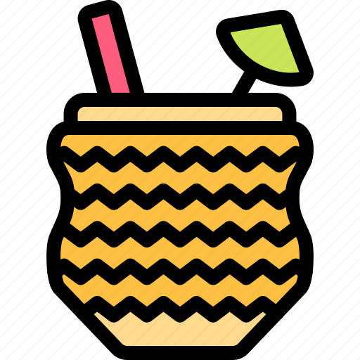 cocktail, fun, party, summer icon
