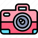 camera, fun, party, summer icon