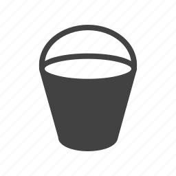 beach, bucket, carry, container, holder, sand, water icon
