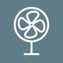 air, electric, equipment, fan, heat, summer, wind icon
