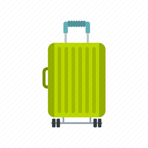 bag, handle, luggage, suitcase, travel, vacation, wheels icon