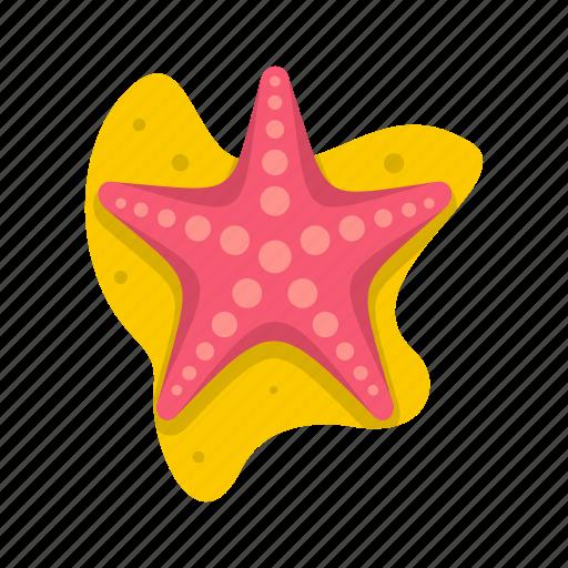 aquatic, logo, mollusk, sea, sea star, star, tropical icon