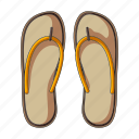 accessory, beach, flip flops, rest, shoes, slippers, summer icon