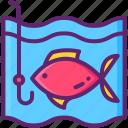 fish, fishing, hook