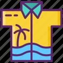 clothes, hawaiian, shirt icon