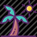 beach, palm, summer, vacation