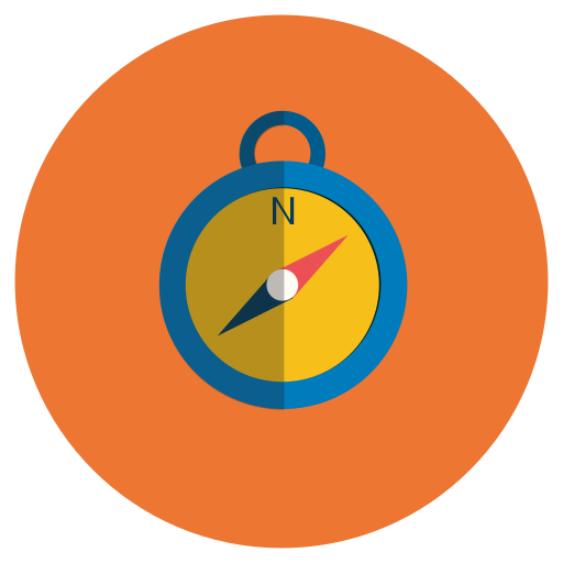 Compass, gps, map, pointer icon - Free download