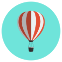 air, balloon, hot, travel, vacation icon