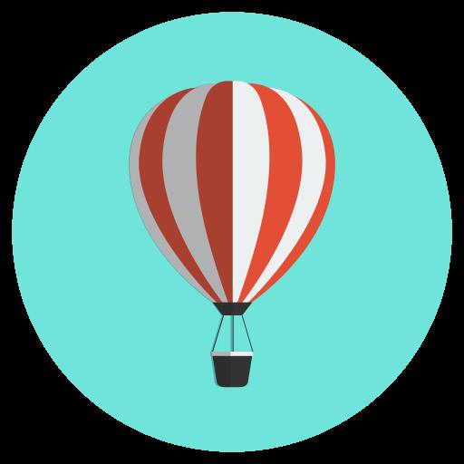 air, balloon, hot, travel, vacation icon