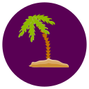 leaf, nature, palm, tree icon
