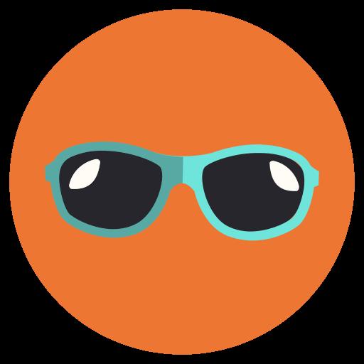 sun, sungalsess, vacation icon