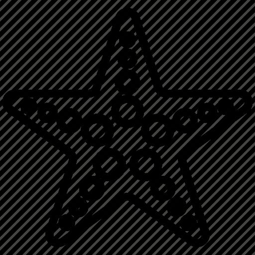 line, sea, star, starfish, summer icon
