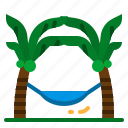 hammock, hanging, lying, relaxing, resting icon
