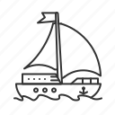 boat, sail, ship, summer, transport, vacation, yatch icon