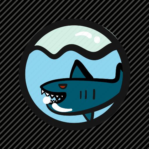 danger, endangered, hunt, ocean, sea, shark icon