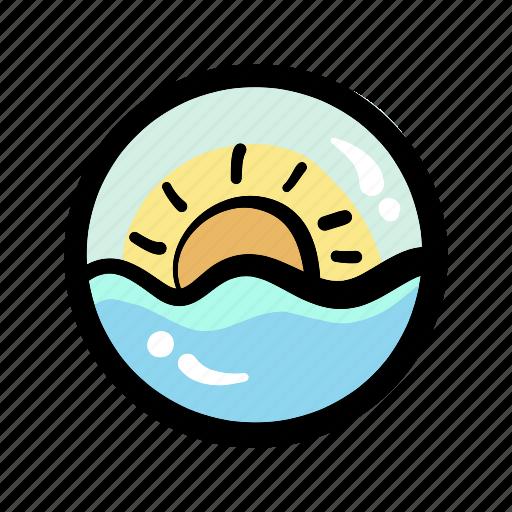 daylight, morning, summer, sun, sunrise icon