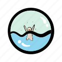 danger, flood, sea, survival, warning icon