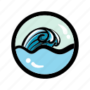 ocean, sea, surf, wave icon