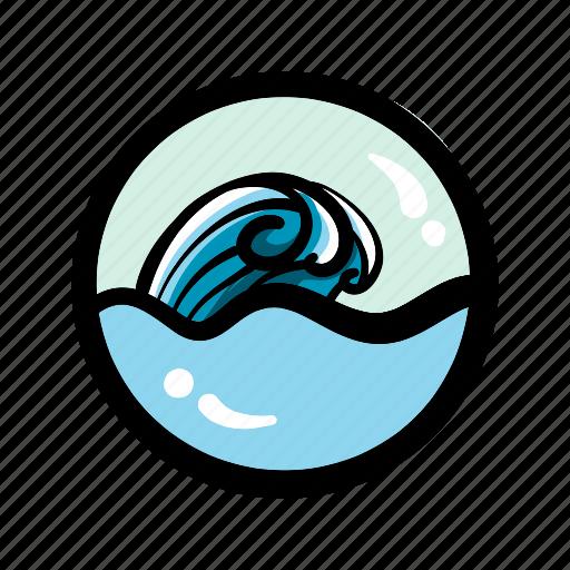 ocean, sea, surf, wave icon