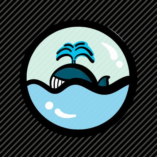 ocean, sea, summer, whale icon