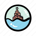 delivery, sailing, shipping, tourism, transport, transportation, vacation icon