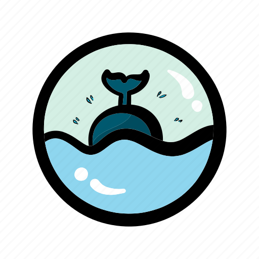 holiday, ocean, summer, travel, trip, vacation, whale icon