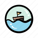boat, journey, sailing, tour, transportation, travel, trip icon